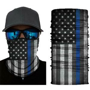 Thin Blue Line Flag Gaiter Scarf Face Mask